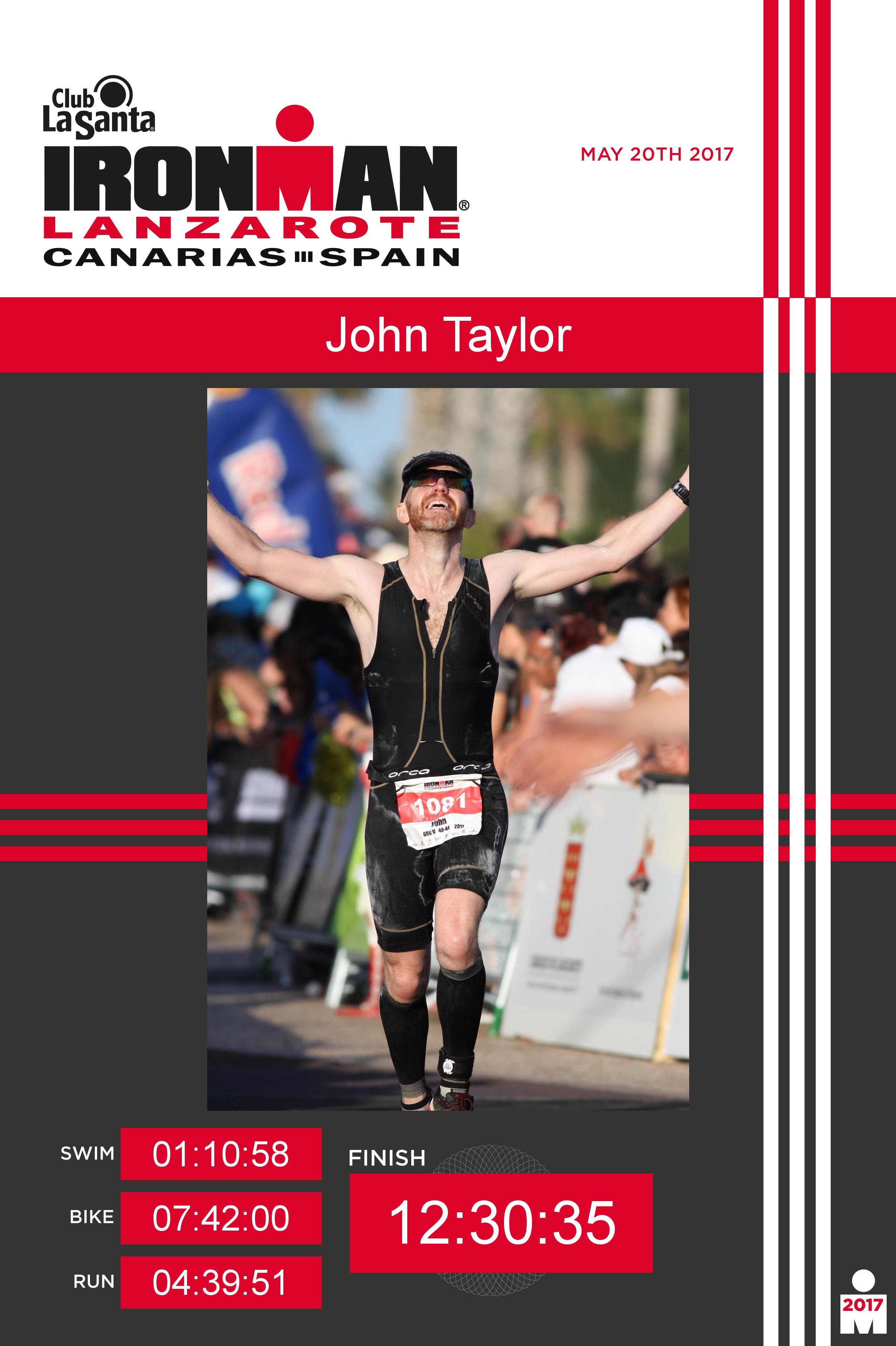 Ironman Lanzarote - race report by John Taylor - Team Cherwell